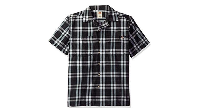dickies mens short sleeve camp shirt