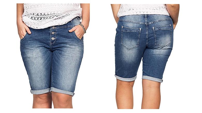 ellos plus size denim shorts, plus size denim shorts, plus size jean shorts, plus size Bermuda shorts