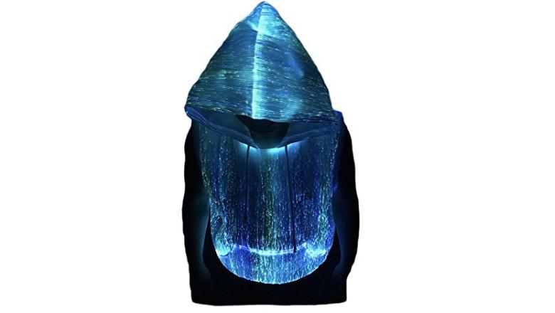 LED sleeveless hoodie