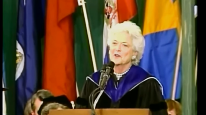 First Lady Barbara Bush Wellesley College