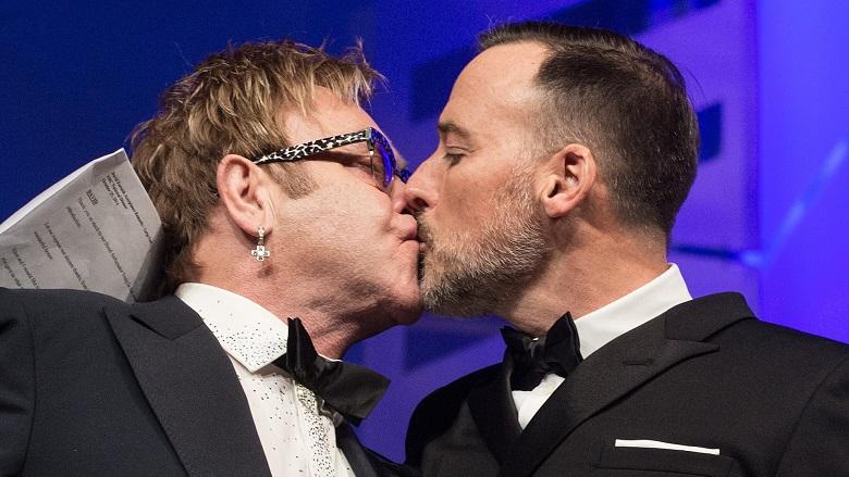 Elton John Kissing Husband, Elton John Husband David Furnish, Who Is Elton John Married To