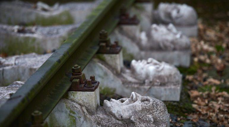 A Holocaust memorial.