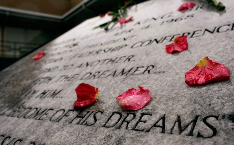 MLK commemorative plaque
