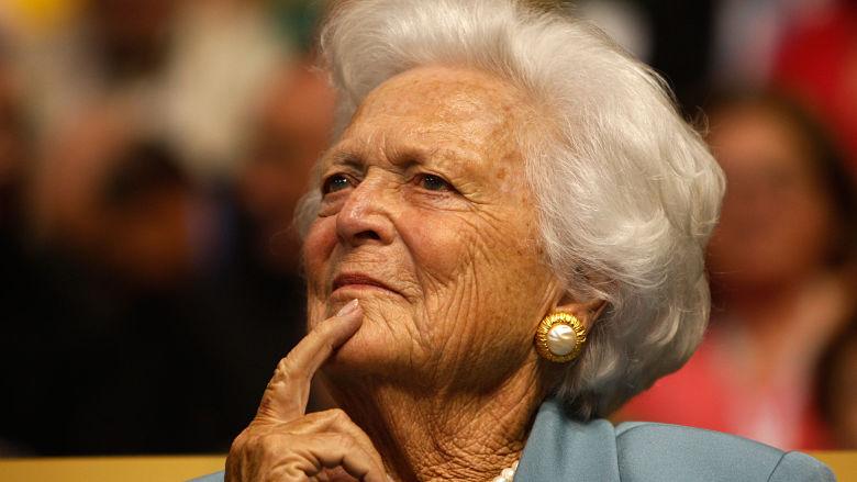 Barbara Bush dead