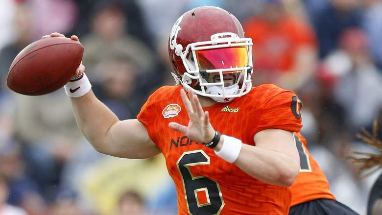 baker mayfield, nfl draft, mock