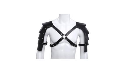 men's festival clothing, men's leather harness, men's chest harness