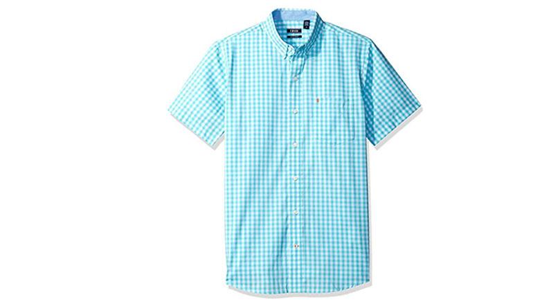 izod mens advantage performance plaid short sleeve shirt