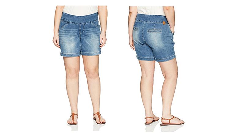 jag jeans shorts, plus size denim shorts, plus size jean shorts, women's plus size shorts