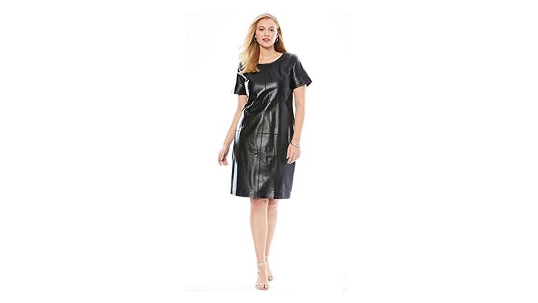 plus size leather dress, plus size little black dress, plus size black dresses, plus size lbd