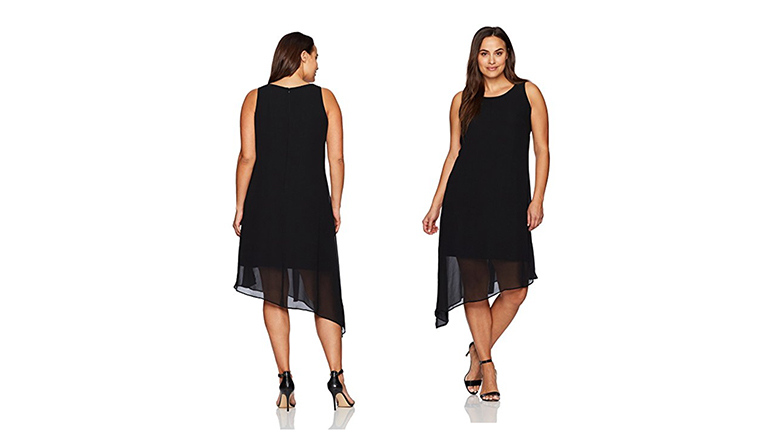 sleeveless plus size dress, plus size little black dress, plus size black dresses, plus size lbd