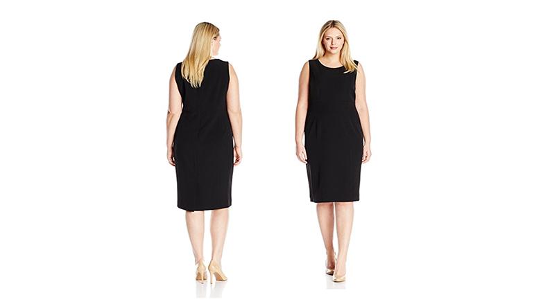 plus size sheath dress, plus size little black dress, plus size black dresses, plus size lbd