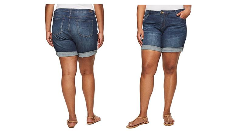 kut from the kloth jean shorts, plus size denim shorts, plus size jean shorts, women's plus size shorts