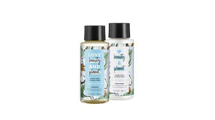 love, beauty and planet shampoo, coconut oil shampoo, coconut shampoo, coconut shampoo and conditioner