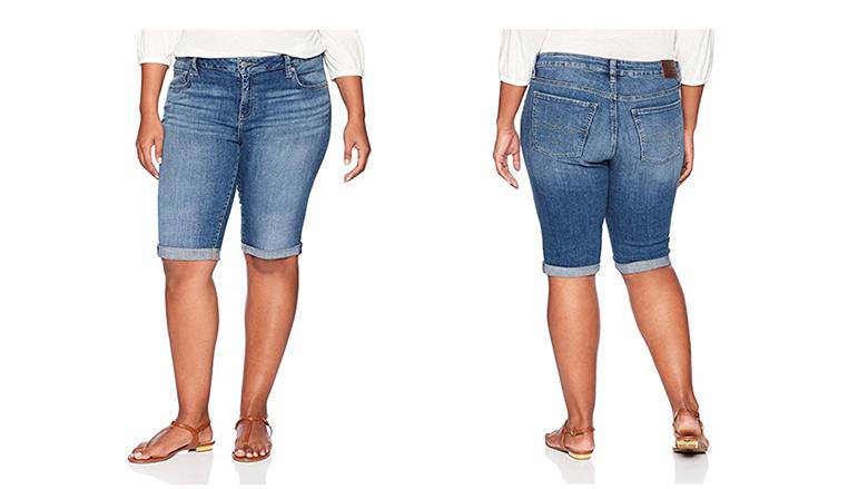 lucky brand plus size denim shorts, plus size denim shorts, plus size jean shorts, plus size Bermuda shorts