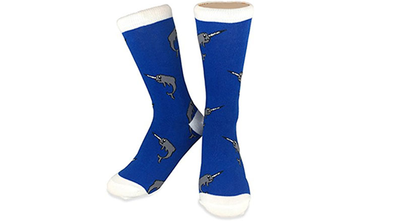 narwhal whale socks by neon eaters