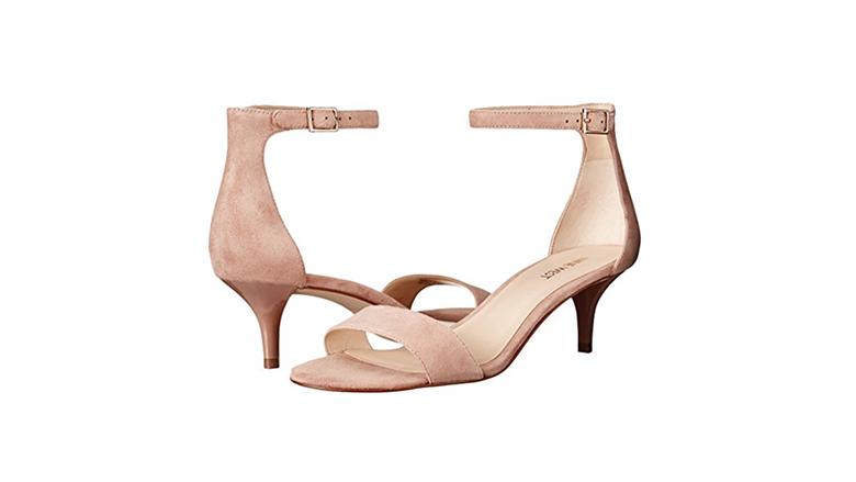 nine west sandals, kitten heel sandals, kitten heel shoes