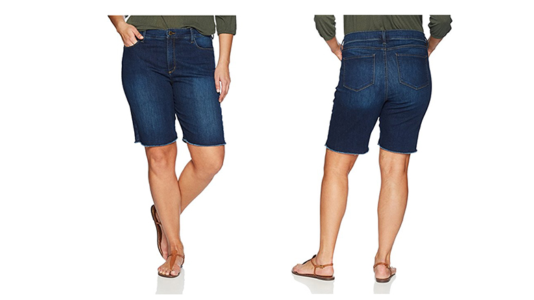 nydj shorts, plus size denim shorts, plus size jean shorts, plus size Bermuda shorts