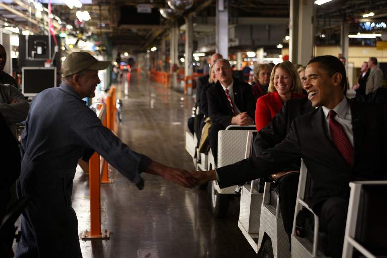 Barack Obama Janesville, Janesville GM plant