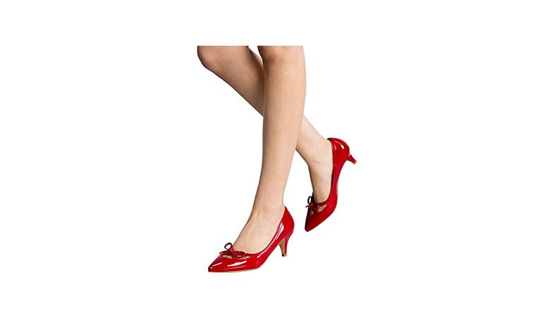 pumps with bows, kitten heel pumps, kitten heel shoes
