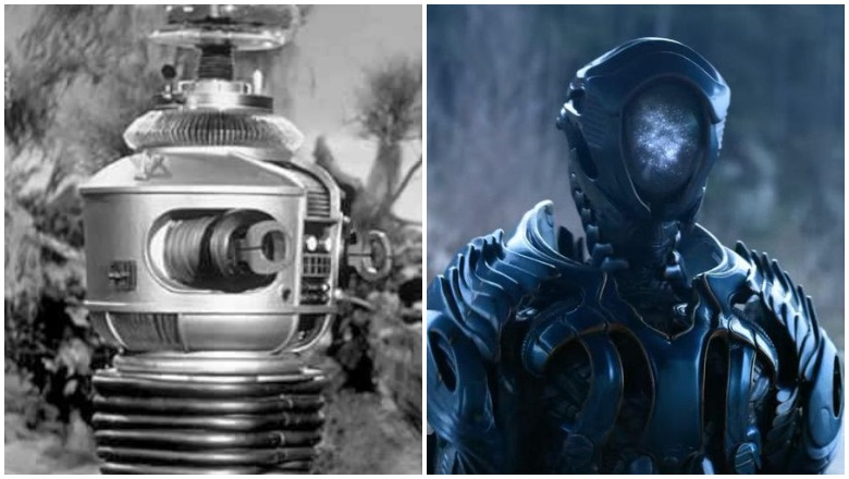 Original vs new robot