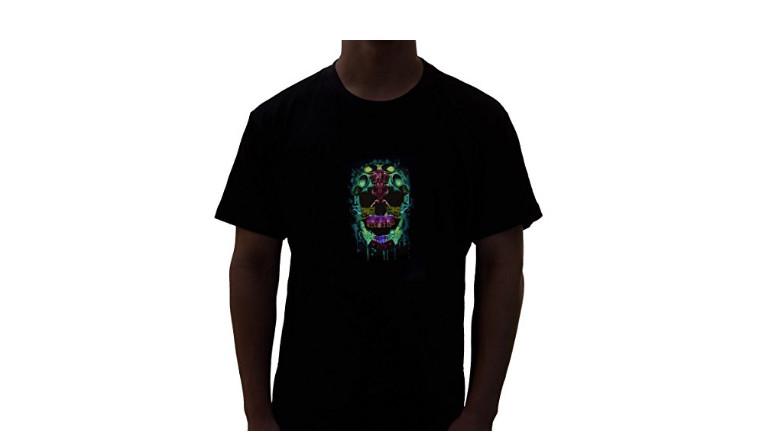 skull LED shirt