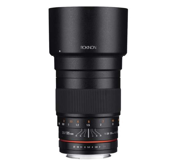 Rokinon 135mm f2 lens