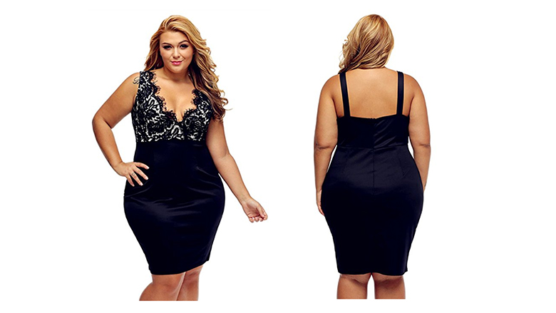 black plus size tank dress