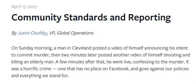 Facebook Live murder video, Facebook live shooting videos