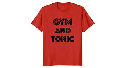 snapthread gym and tonic t-shirt, Funny running t shirts, Funny workout shirts, Cute running shirts, Funny workout tanks