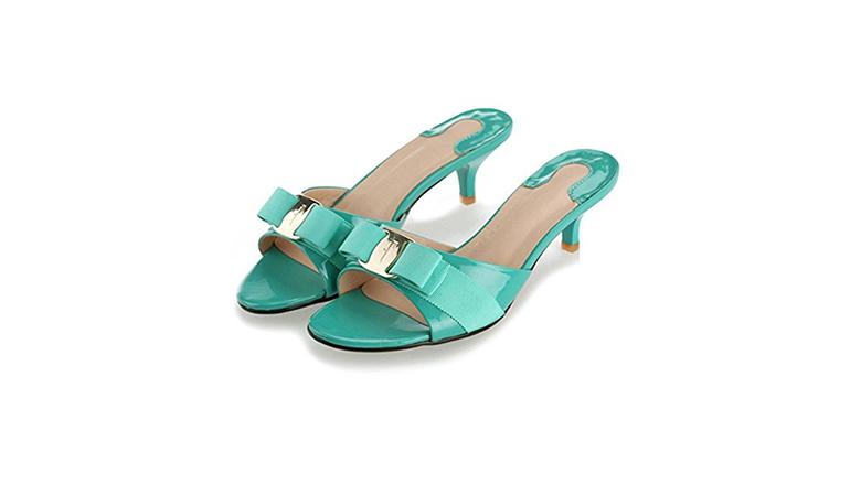 kitten heel slides, kitten heel sandals, kitten heel shoes
