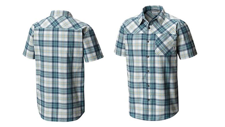 columbia mens thompson hill yarn dye short sleeve shirt