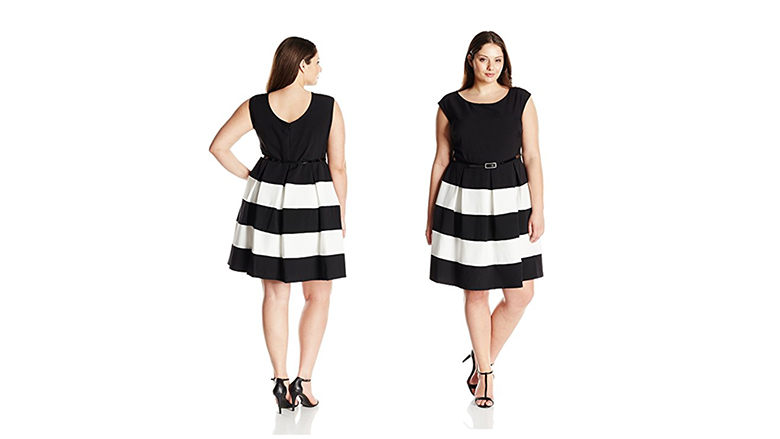 plus size fit and flare dress, plus size little black dress, plus size black dresses, plus size lbd
