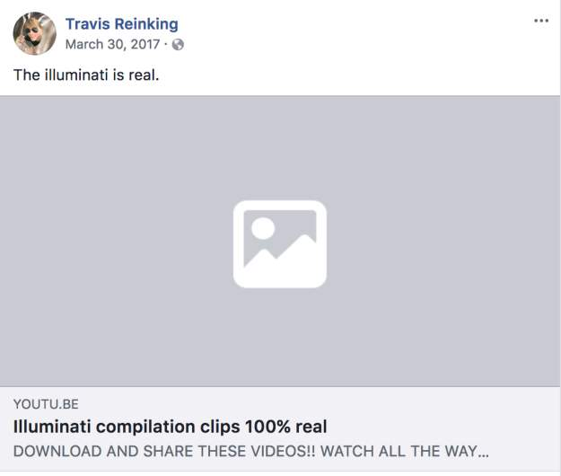 travis reinking facebook youtube
