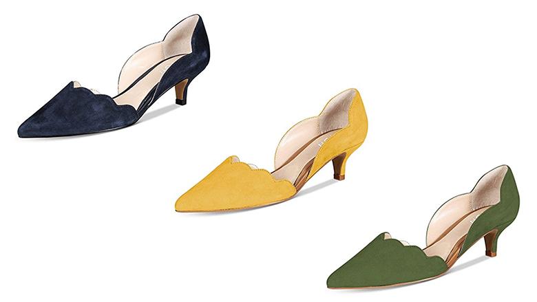 d'orsay pumps, kitten heel pumps, kitten heel shoes