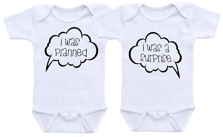 Twin Onesies I Was Planned