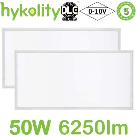 Hykolity 2x4 FT 50W Flat LED Troffer Panel Light