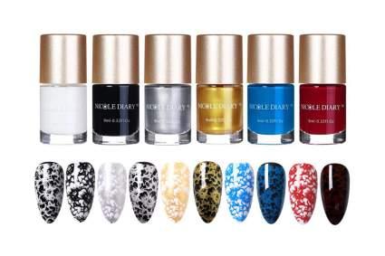 nail art stamping polish set