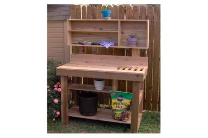 six foot cedar potting bench