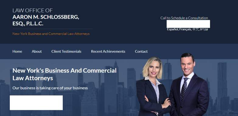 aaron schlossberg law firm