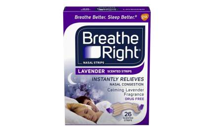 breathe right stop snoring sleep better nasal strips lavender