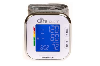 Care Touch Fully Automatic Wrist Blood Pressure Cuff Monitor - Platinum Series, 5.5 - 8