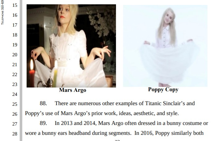 Mars Argo, Poppy, Titanic Sinclair