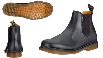 dr. martens 2976 black smooth chelsea boot
