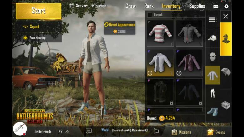how to buy clothes in pubg mobile