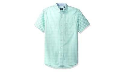 izod mens advantage performance easycare plaid short sleeve shirt