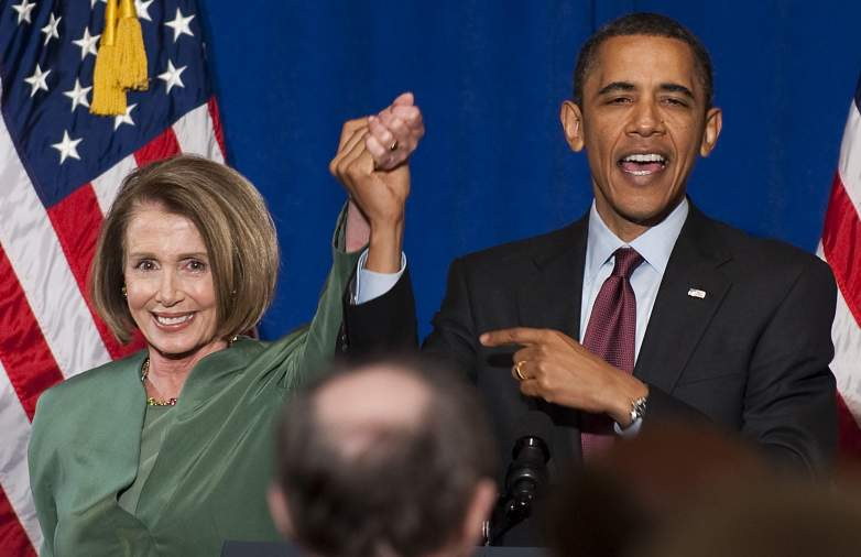 Nancy Pelosi and Barack Obama