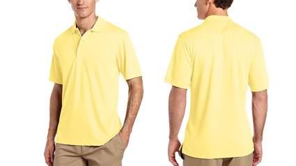 pga tour mens short sleeve airflux solid polo
