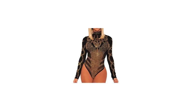 plus size sequin bodysuit
