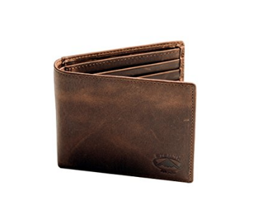 stealth mode leather bifold rfid wallet