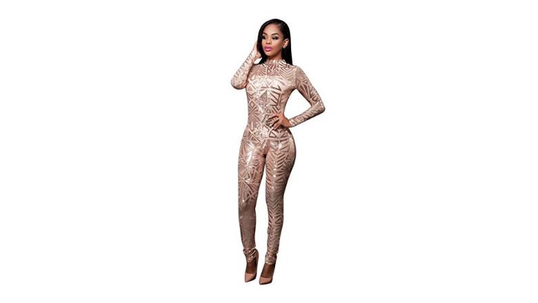 catsuit sequin bodysuit